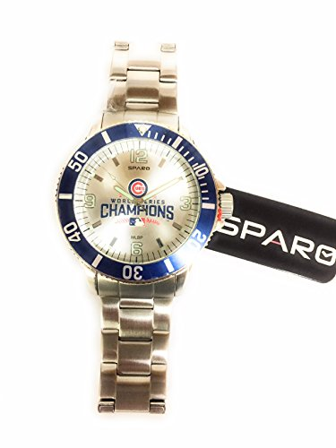 Chicago Cubs 2016 World Series Champion MLB Key Watch with Stainless Steel Band