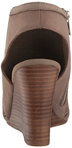 Steve Madden Womens winny Wedge Sandal Grey Nubuck