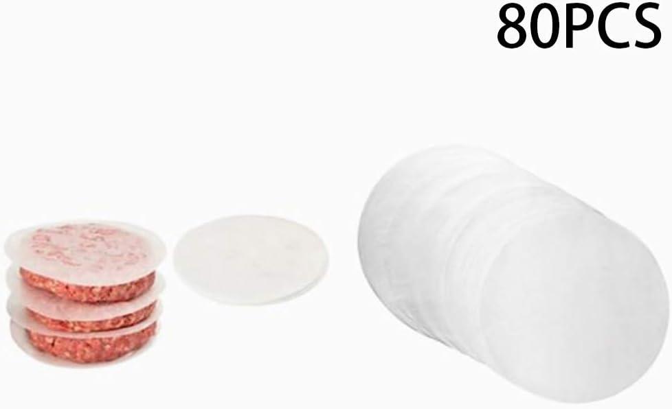 Hongma 2 Packungen Silikonpapier Rund f/ür Hamburgerpresse Grill MEHRWEG