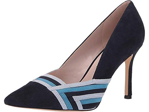 Nine West Womens Eugene Pump French Navy/Sea Blue/Ice Blue 10.5 M
