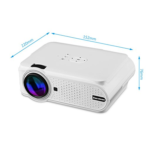 Excelvan ehd02 portable mini led multimedia home cinema for Mini outdoor projector
