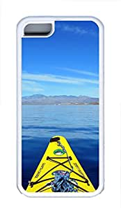 iPhone 5C Case Kayaking In Still Waters TPU Custom iPhone 5C Case Cover White
