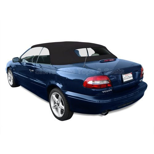 Volvo C70 Convertible Top 99-06 in Black German A5 Cloth w/Glass - Volvo C70 Convertible 2004