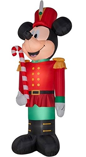 Disney Airblown 14.5' Mickey Mouse Toy Soldier Christmas Inflatable Outdoor Yard (Toy Soldier Outdoor Light)