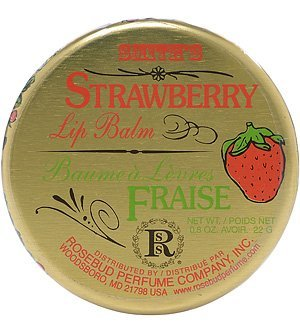 Strawberry Salve Tin 0.8 oz by (Scented Strawberry Lip Balm)