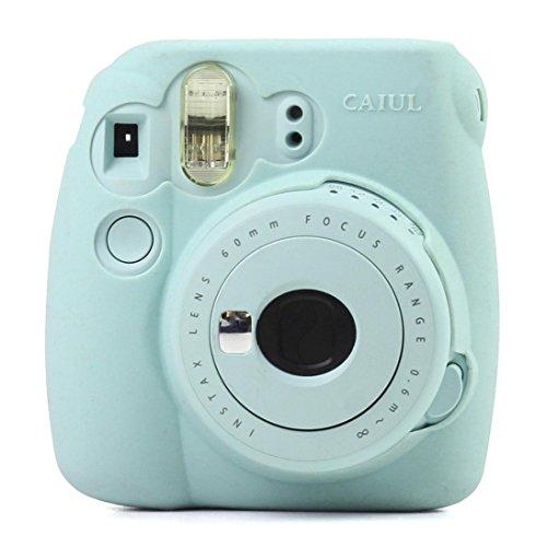 Camera Cases Gbell Kemilove Noctilucent Camera Soft Case Skin Cover For Fujifilm Instax Mini8 Mini8s  Sky Blue