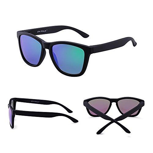 Espejo Sol Lente Negro Reflexivo Polarizadas Hombre Polarizado Gafas Mate Espejo Retro Mujer Verde de Anteojos Owfq5xH4