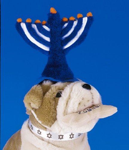 Menorah Hat (Plush Hanukkah Menorah Pet Hat by copa)