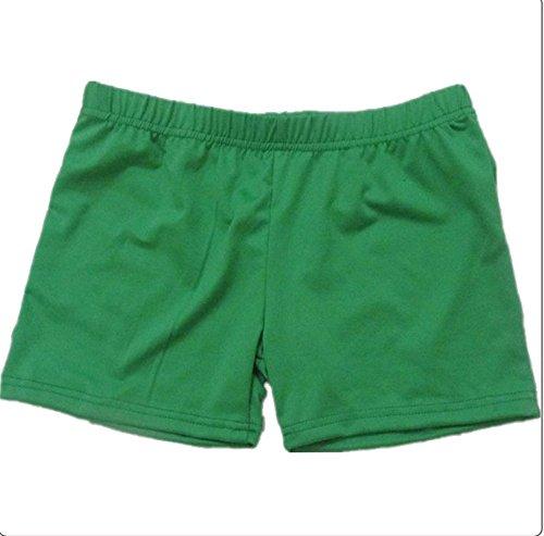 Dance Costumes Undergarments (Whitewed Women's Boy Cut Panties Underwear Undergarment for Dance Costumes Green)