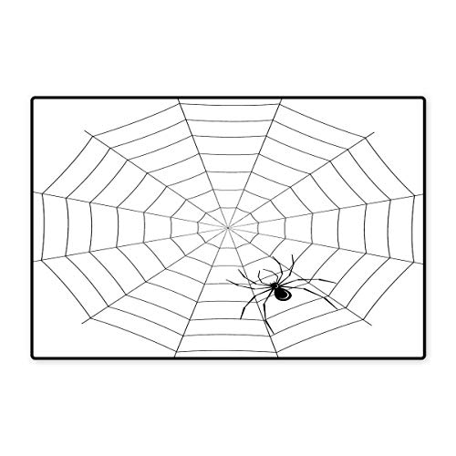 Spider Web Door Mat Indoors Toxic Poisonous Insect Thread Crawly Malicious Bug Halloween Character Design Floor Mat Pattern 32