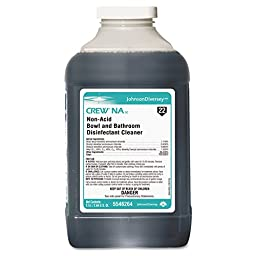 Diversey™ DRK 5546264 Crew Non-Acid Bowl and Bathroom Cleaner, 2.5 L (Pack of 2)