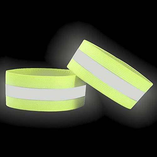 - Sandover 2pcs Reflective Safety Belt Arm Strap Cycling Running LED Armband Light   Model BRCLT - 25362   2PCS Fluorescent Green