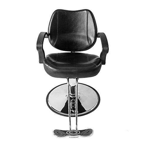 Mefeir HZ8801 Classic Professional Portable Hydraulic Barber Chair, Salon Styling Beauty Spa Shampoo Equipment, Heavy Duty Height Adjustable, Black by Mefeir