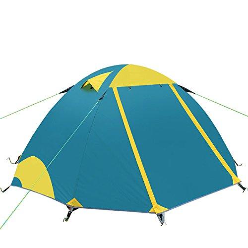 à Double Couche Extérieure Tente De Camping Anti Tempête Alliage D'aluminium Tente Pliante,Green-L