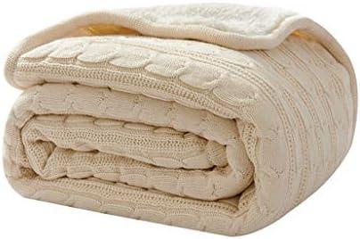 ラムカシミヤ毛布冬の肥厚ニット毛布シングル薄いセクションキルトオフィスシエスタエアコンブランケットシート (Color : Beige, Size : 120x180cm)