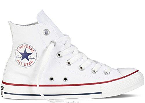 Sneakers Alte Unisex Chuck Taylor All Star (9 (uomo) / 11 (donna) Us, Bianco Ottico)