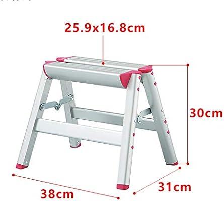 Su bai Escalera Taburete Escalera de aluminio Escalera Escalera doméstica Plegable Cocina portátil Banco de zapatos Herramientas de jardinería, Tres alturas pedal (Color : A1): Amazon.es: Bricolaje y herramientas