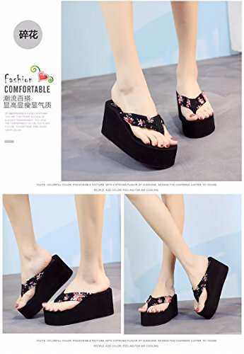 flops High LIUXINDA anti and tide summer heel Summer thick Multicolor flip slip slippers female clip slope XZ YTYHpwRqxF