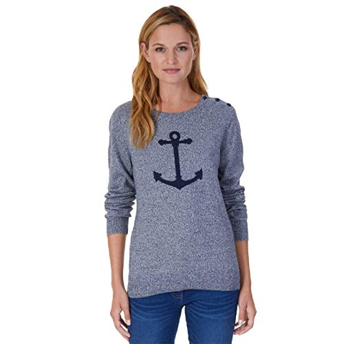 Nautica Women's Anchor Intarsia Pullover Sweater, Marled for sale  Delivered anywhere in USA