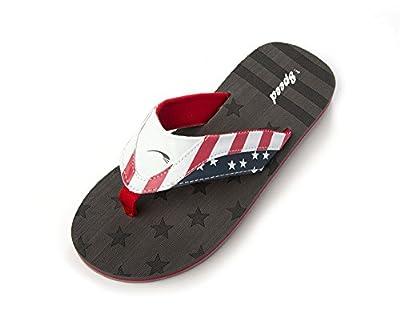 Just Speed Men Flip-Flops Sandals Slide On USA Flag 4th Of July Spangled Star Patriot Pride Shoes