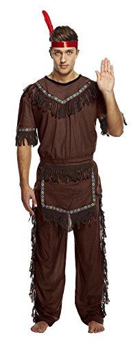 Rimi Hanger Mens Native American Red Indian Warrior
