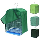 DEHEOBI Square Pet Bird Cage Cover Parrot Light-Proof Sleep Reduces Distractions Muti-Functional Canary Shade Cloth Bird Cage Good Night Accessories Without Cage (Green)