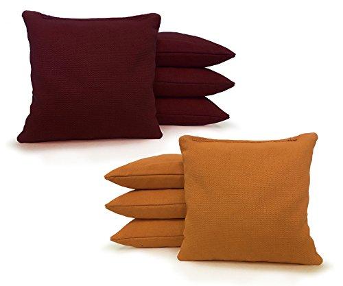 Tailgating Pros Regulation Cornhole Bags - Set of 8 - Corn Filled & Handmade 25+ Color Options