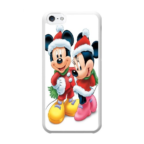Coque,Coque iphone 5C Case Coque, Minnie En Mickey Mouse Cover For Coque iphone 5C Cell Phone Case Cover blanc