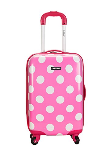 rockland-luggage-20-inch-polycarbonate-carry-on-pink-dot-one-size
