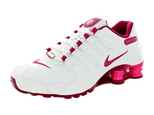 Nike Women's Shox Nz Eu White/Sport Fuchsia/Pink Foil Running Shoe 7.5 Women US