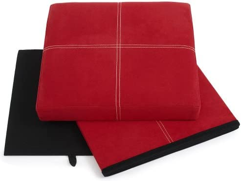 FHE Group Microsuede Folding Storage Ottoman