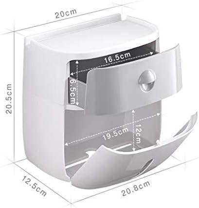 SDF25 バスルームとキッチンのための自己粘着トイレットペーパーホルダーはありません掘削に必要な防水トイレットペーパーホルダー (Color : C)