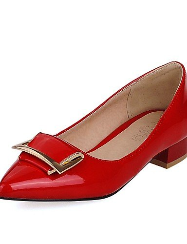 Tac¨®n cn43 mujer Blanco Robusto uk8 5 uk8 y de Patentado Cuero Azul 5 ZQ 5 eu42 5 us10 Trabajo Puntiagudos us10 Negro red Confort eu42 Zapatos cn36 Rojo uk4 Oficina Casual red eu36 us6 blue Tacones EwqSIxTtI