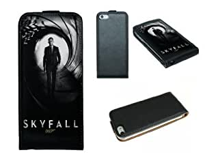 Genuine Leather Case For HTC One M7 Cover Case James Bond