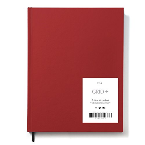 Vela Advanced ProCover Lab Notebook / Full Form - 9 x 11.75 105gsm, 128 Pages (Pro Grid) - Red