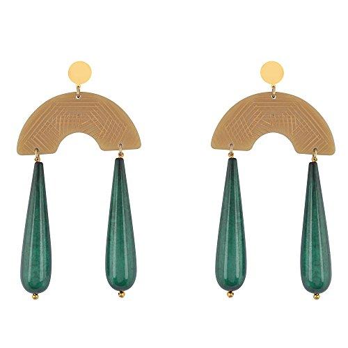Shaze Gold Colored Sea Serenade Earrings for Women by shaze