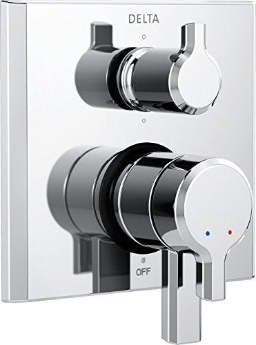 Delta Faucet T27999 Pivotal 2-Handle Monitor 17 Series Valve Trim with 6-Setting Diverter, Chrome by DELTA FAUCET