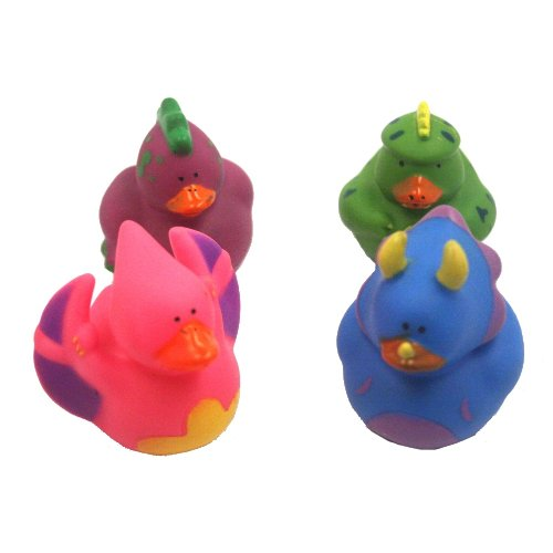 Fun Express Dinosaur Rubber Duckies Novelty (12 Pack)