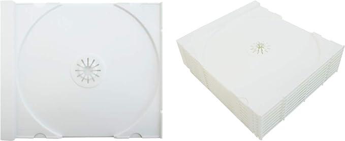 Color blanco sólido de 10 colores de repuesto CD bandejas/inserciones para CD jewel cajas. # cdir80sw- se adapta a cualquier tamaño estándar 10 mm caja.: Amazon.es: Electrónica