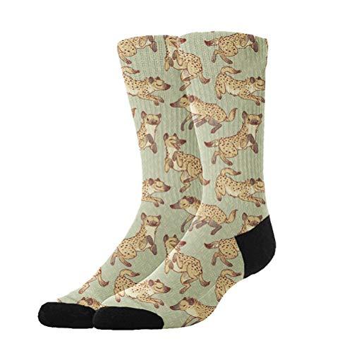 OKAYDECOR Novelty Cool Crazy Funny Dress Socks,Hyena Patterns Cotton Crew Socks, Gifts Men & Women ()