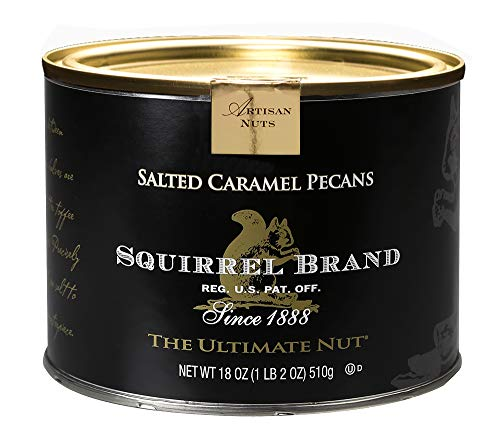 (SQUIRREL BRAND Artisan Nuts, Salted Caramel Pecans, 18 oz Gift Tin)