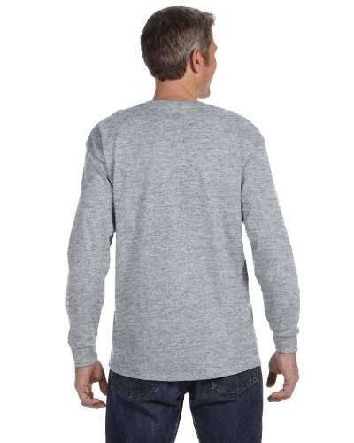 lend Cotton/Poly Long Sleeve T-Shirt, Large, Oxford ()