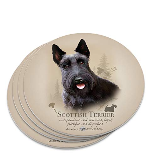 Scottish Terrier Scottie Dog Breed Novelty Coaster Set