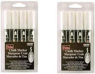 UCHIDA 4 White Broad Tip Bistro Chalk Marker
