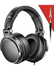 $29 » Vogek Over-Ear DJ Headphones, Prefessional Studio Monitor Mixing DJ Headset with Protein Leather Memory Foam Ear Pads, Stereo Sound for Electric Drum Piano Guitar AMP, 50mm Neodymium Drivers