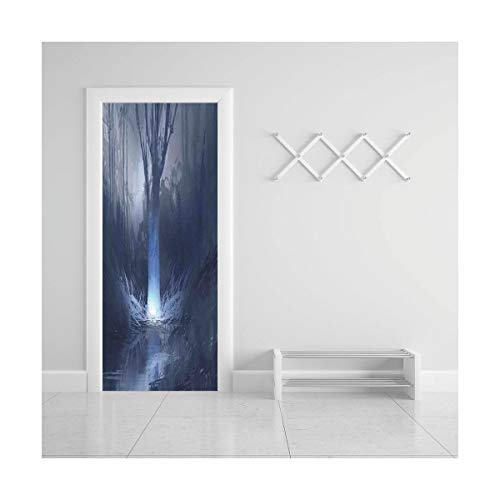 (Door Decal Wall Murals 3D Vinyl Wallpaper Stickers for Room Decor,30.3x78.7 inches,Fantasy House)