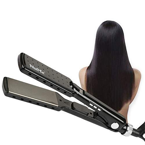 DANTB Titanium Alloy Straight Extra Wide Plates Advanced Ceramic Hair Straightener Salon Fast Hair Styler ()