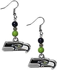 Siskiyou Sports NFL Seattle Seahawks Fan Bead Dangle Earrings