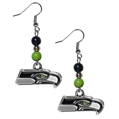 NFL Seattle Seahawks Fan Bead Dangle (Seattle Seahawks Team Fan)