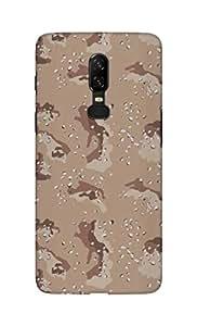 Stylizedd OnePlus 6 Slim Snap Basic Case Cover Matte Finish - Desert Storm Camo